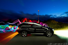 133/366 - X5 Party Time (Colin Cameron ~ Photography ~) Tags: longexposure lightpainting rainbow colours bright glowing 365 bmwx5 isleoflewis lightstreams 366 lenser colincameron canon7d lightjunkies lenserv24 2012365 2012366