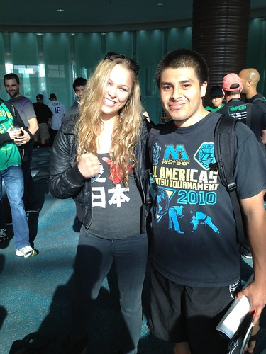 Ronda Rousey and Pedro El Travesio Gayta by PedroGaytan, on Flickr