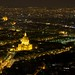 Hôtel des Invalides by night from Tour Montparnasse