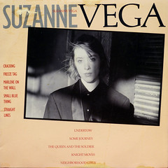 Suzanne Vega in B&W (epiclectic) Tags: music art vintage album vinyl retro collection cover lp record 1985 sleeve jackets suzannevega epiclectic blackandwhiteflood