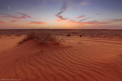 ( ibrahim) Tags: sunset sky sun moon nature clouds canon landscape photography sand desert crescent drought sands ibrahim abdullah     50d  canon50d  tokina1116mm