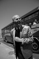 just get off.... (Streetphotography by Rausch) Tags: bw bus turkey oldman istanbul busstop trkei sw gentleman 399 eminn 399c buslineistanbul esentepemahale