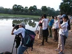 Angkor Wat sunrise (oldandsolo) Tags: sunrise cambodia tripod buddhism angkorwat tourists worldheritagesite siemreap reflectingpool buddhisttemple photogear angkorwatsunrise angkorarchaeologicalpark khmerkingdom touristphotographers theruinsofangkor buddhistfaith sunriseoverangkorwat angkortempleruins worldslargesthindutemple sunriseoverthetemples