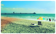 Oceanside Beach & Pier (Joshua Daniel O.) Tags: ocean california ca blue vacation sky brown color beach water beauty cali contrast umbrella relax coast pier sand chair view place pacific joy dream spot here oceanside enjoy lovely enjoyment wana 2be