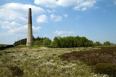 Stublick Chimney (ecirp1) Tags: wood blue chimney sky clouds heather working cumulus lead langley exhaust cottongrass stublick