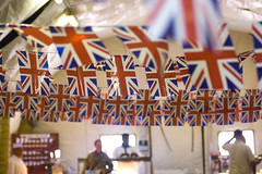 Union Flag Bunting Adorns the Mess Hall in Afghanistan During Diamond Jubilee Celebrations (Defence Images) Tags: afghanistan army jubilee royal police her diamond queens british hrh patrol province majesty uniformed aup helmand policeadvisorygroup basepb