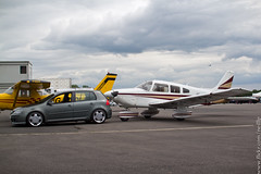 Casually towing a plane (NeilllP) Tags: vw plane golf volkswagen tow connection deutsch 2012 lorinser dc12 mk5 neilllp neilpco