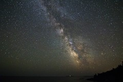 Milky way in Acadia national park (sherbypictures) Tags: park usa bar night america canon way stars rebel rising harbor maine tokina galaxy national milky starry f28 acadia t3i 1116 600d blackwoodscampground