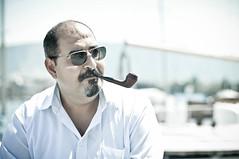 Davide, Stranger 64 / 100 (Steffen Hi) Tags: portrait geneva geneve smoke pipe streetportrait smoking smoker sonnenbrille pfeife genf pipesmoker paquis gva urbanportrait sunnglasses 100strangers