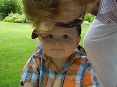 Leo with Aunt Sandie