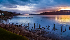 "Sunset at Loch Ness ""Dores"""