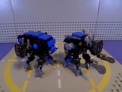 Marauding MULEs (Red_Robot_XIII) Tags: mobile lego frame zero mecha microscale mfz mf0