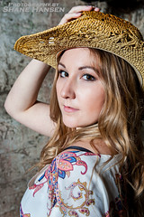 Cow Girl -005- 31Jan16_FB (Shane Hansen) Tags: woman colour vertical pretty headshot cowgirl cowboyhat