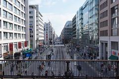 Friedrichstrasse Berlin (avista) Tags: street city people urban berlin public colors 35mm vintage spring strasse sony friedrichstrasse frhling rx1