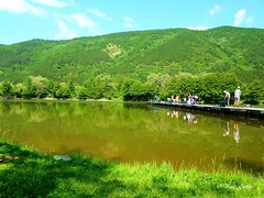 People on the lake (Vasil Gochev) Tags: park blue light sky people sun sunlight lake color tree green art nature water clouds landscape sofia outdoor natur bulgaria pancharevo