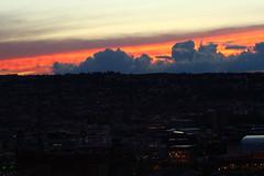 On fire (Nathalie_Dsire) Tags: city light sky night clouds dark evening stuttgart dusk