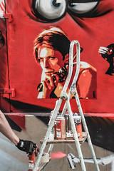 Festiwall Paris (Emilie Baudel) Tags: red streetart paris art wall graffiti bowie tag graff davidbowie canaldelourq festiwall