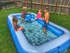 Pool play today (Pejasar) Tags: backyard pool cousins girl boy children