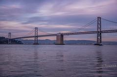San Francisco Bay Bridge (Abhijit B Photos) Tags: sanfrancisco california bridge sea sky water architecture landscape bay boat seaside lowlight waterfront outdoor pacificocean shore baybridge