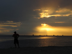 Give Me Love (Give Me Peace on Earth) (DOLCEVITALUX) Tags: sunset sea water silhouette outdoor philippines manilabay canonpowershotsx50hs