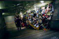Seoul 2016: Stall Along Subway Descent (Wing Yau Au Yeong) Tags: shop stairs underground subway clothing honeymoon streetphotography stall seoul southkorea selling 2016