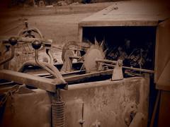 Maggengo 3 (simonedanielis) Tags: rural monocromo campagna macchina lavoro seppia attrezzi