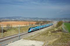 Here Ouigo! TGV 6255 @ Grane (Wesley van Drongelen) Tags: train grande zug crest duplex socit tgv trein fer sncf vitesse nationale societe 6255 grane chemins ouigo tgv6255