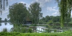 Love Island (meleshko.alex) Tags: europe ukraine travel trees tree trip treas landscape lake island pait bridge hdr panorama reflection sky fujifilm fuji xt1 35mm