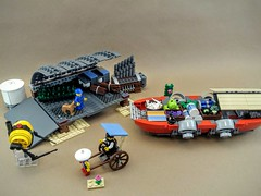 Desert Depot (Sir If) Tags: desert lego scifi rickshaw barge outpost
