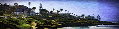 LaJollaSkyline (clabudak) Tags: ocean california city panorama water painting landscape lajolla shore sensational