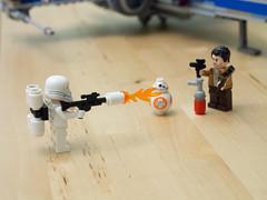 Poe Dameron & BB-8 vs. First Order Flametrooper (Yuxuan.fishy.Wang) Tags: california us starwars unitedstates lego sanjose xwing bb8 75149