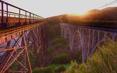 Magic Hour Shot (tfrank8176) Tags: bridge highway1 pacificcoast traintrestle