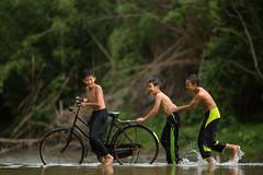 Helping (Firdaus Zulkefili) Tags: travel boy playing heritage childhood children friendship culture lifestyle malaysia splash pahang villager happines villageboy