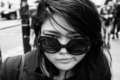Cheryl (Gary Kinsman) Tags: fujix100t fujifilmx100t 2016 london camdentown camden camdenhighstreet camdenmarket bw blackwhite portrait pose posed shades sunglasses