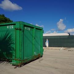 Pompano Beach, FL (Minno Ramirez) Tags: urban green saint statue geometry structure squareformat urbano virginmary southflorida pompanobeach contemporarylandscape newtopographics newtopo
