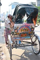 Bangladesh Streets of Srimangal Rickshaw (Globe-Trotting.com) Tags: street people rickshaw backpacker bangladesh khulna srimangal bengale