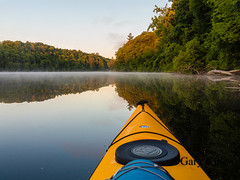Early morning on the river (Gary/-King) Tags: june sunrise kayak paddle brattleboro connecticutriver 2016