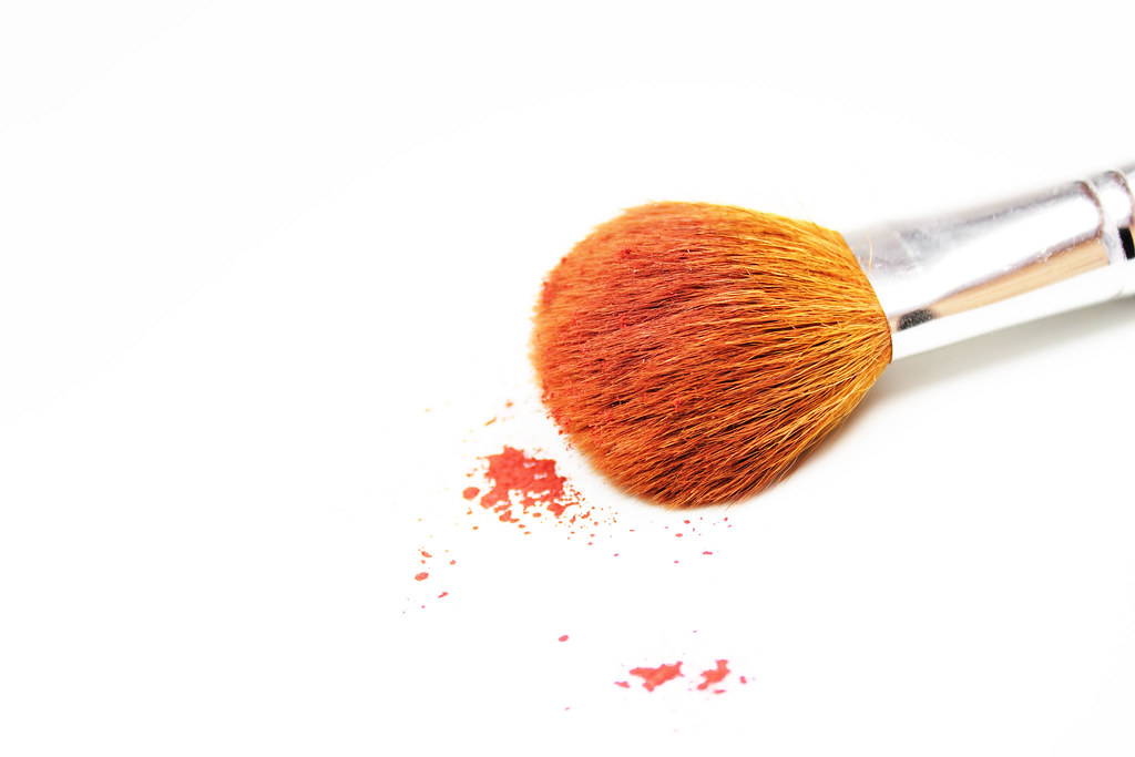 Makeup Brush on White Background