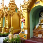 "Statues at Shwedagon Paya <a style=""margin-left:10px; font-size:0.8em;"" href=""http://www.flickr.com/photos/14315427@N00/6920977548/"" target=""_blank"">@flickr</a>"