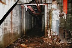 Wyman Gordon Power Plant, Harvey IL (RickDrew) Tags: old urban plant rot abandoned industry dark concrete illinois scary rust industrial power bricks pipes hallway il bunker gordon decal exploration wyman gordan urbex
