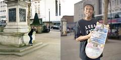 Shaun Currie- BS Nosegrind (Josh-Hunter) Tags: mediumformat bronica skate sq fujiproh400 joshhunter sheffieldskateboarding