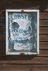 Lobster (palimpsest*) Tags: old sign scotland iso200 wooden peeling paint fife scottish lobster seafood cooked crail focallength34mm dressedcrab nikond300 1650mmf28 1400secatf80