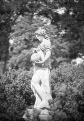 Darlot Petzval Lens Test 01 (geraldfigal) Tags: blur statue bokeh swirl adox 11inch adox25 darlot petzval