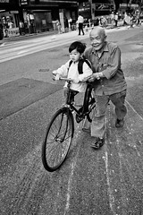 My First Bike Ride (Ding Yuin Shan) Tags: leica love bicycle 28mm grandpa hong kong nostalgic wan asph m9 sheung elmarit dingyuinshan