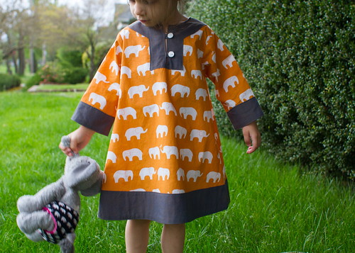 elephant dress and baby