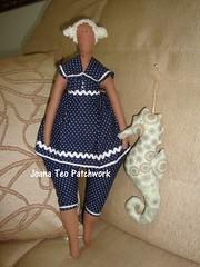Tilda  e Cavalo Marinho (Joana Teo - Artesanato & Patchwork) Tags: angel boneca tilda cavalomarinho bonecadepano balt bonecatilda joanateopatchwork tildamarinheira