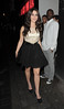 Jessica Lowndes enjoys a night out at Bond nightclub. London, England