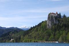 Bled Casle and Triglav (Dick Dangerous) Tags: lake castle slovenia bled triglav gorenjska
