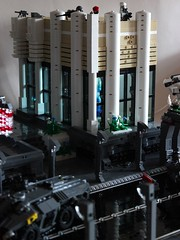 Fall of Berlin White Building 2 (Andreas) Tags: lego military darkwater europeanunion brickarms legomech thepurge legomilitary fallofberlin legoapc legodrone brickarmsprotos legofuturisticmilitary legodarkwater legoeuropeanunion brickarmshaloprotos