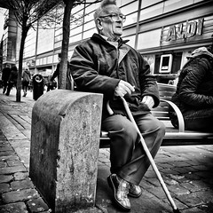 329|365 (PeterChinnock) Tags: street old boy project bench square manchester photography glasses big day sitting market 11 crop 365 329 peterchinnock